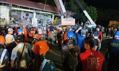 強震襲呂宋 超市倒塌30人失蹤