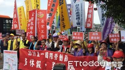 五一勞工大遊行今天中午登場 萬人衝凱道怒吼2大訴求