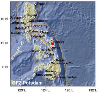 即/菲律賓發生規模6.3地震