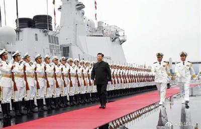 習近平主持「海軍70周年」海上閱兵