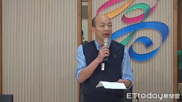 ▲▼總統提名之路韓國瑜宣布聲明。(圖/記者賴君欣攝)