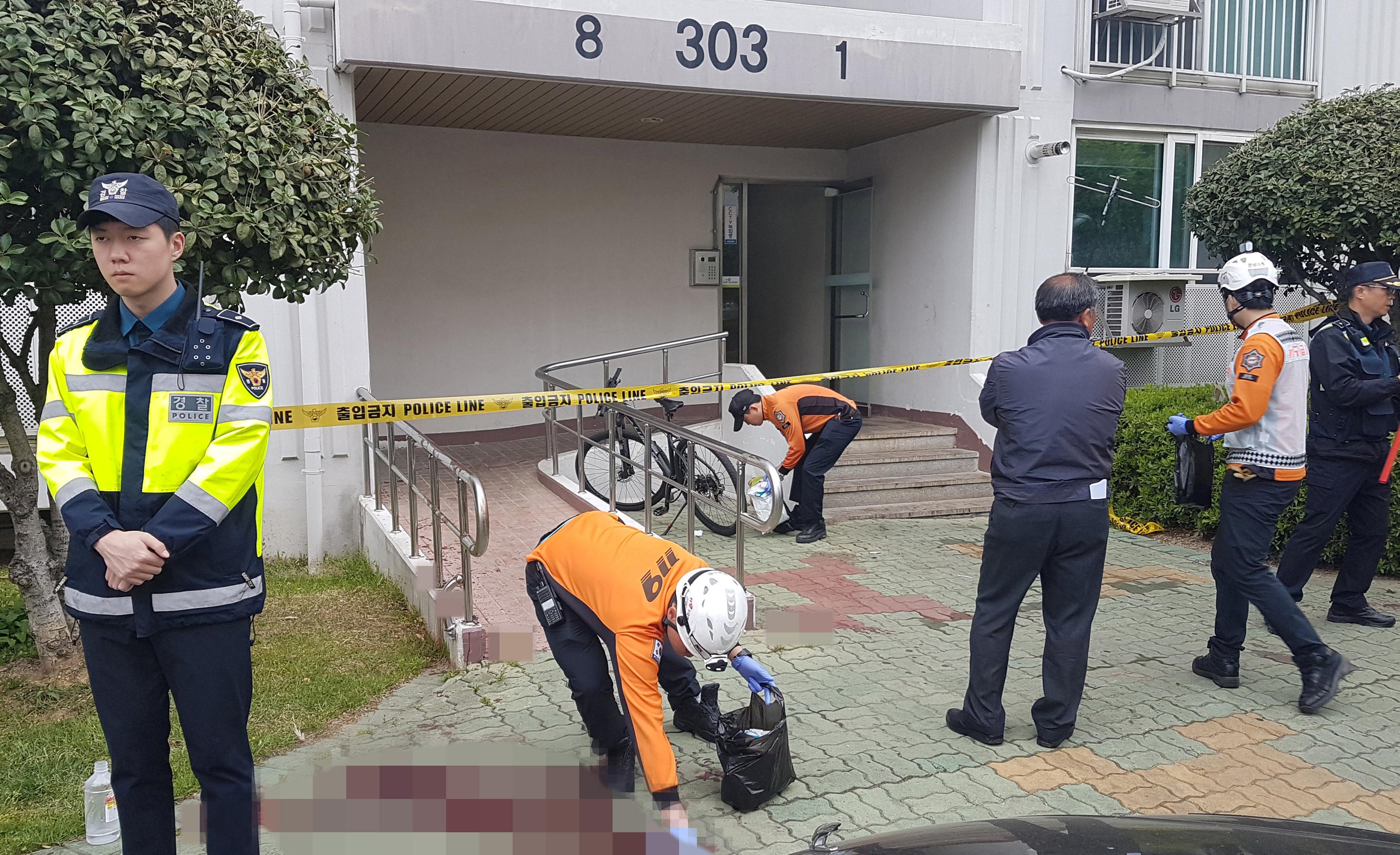 ▲▼南韓晉州縱火隨機殺人案(圖/路透社)