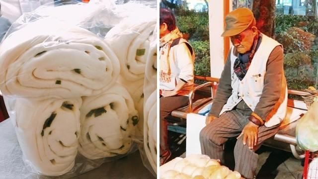 沒賣完不敢回家!105歲爺爺「低頭淚看饅頭」善心女買大包的:蔥味好香