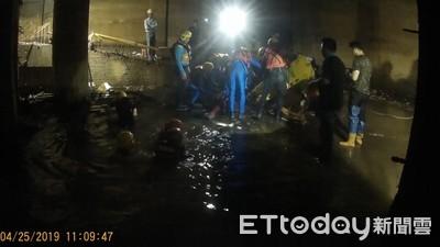 整修921倒塌建物!工人慘跌2.5m深水池喪命