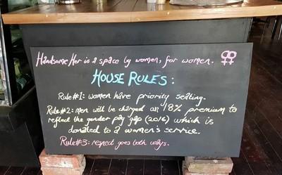 男客要付18%稅 女權咖啡廳關門