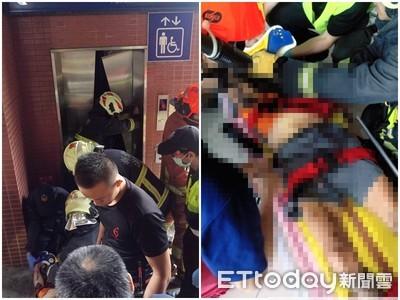 即/鶯歌火車站「男衝破電梯」 摔3m深坑洞