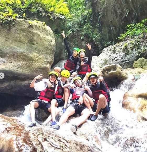 ▲▼「泰民LINE」近日到菲律賓的宿霧旅遊。(圖/翻攝自IG/河成雲)