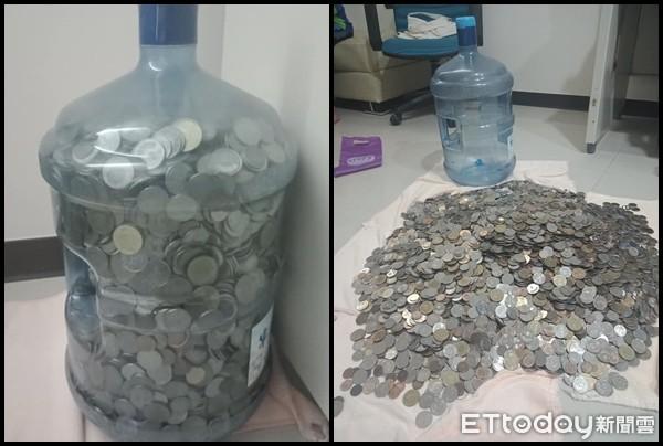 ▲▼超狂媽媽用飲水機桶子存錢。(圖/網友葉子提供授權,請勿任意轉載)