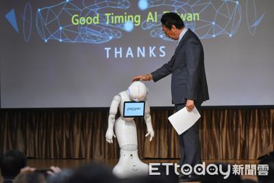 「Good timing愛台灣」機器人助陣 郭台銘秀AI發展成果