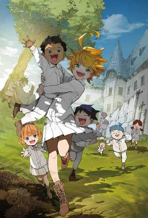 《約定的夢幻島》描述快樂生活在有如天堂般的孤兒院孩童,某天意外地發現了圍牆外的可怕現實。
