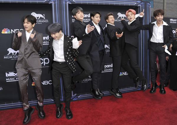 ▲▼防彈少年團(BTS)第三度拿下「告示牌音樂獎」(Billboard Music Awards)最佳社群藝人獎。(圖/達志影像/美聯社)