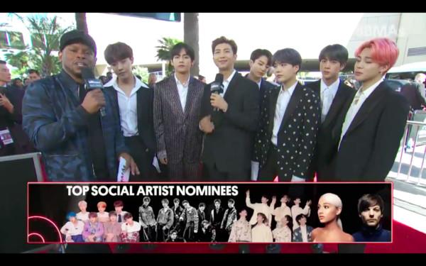 ▲▼防彈少年團(BTS)第三度拿下「告示牌音樂獎」(Billboard Music Awards)最佳社群藝人獎。(圖/翻攝自推特)