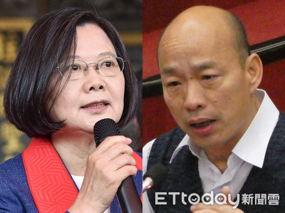 放言民調/蔡英文44.7%勝韓國瑜