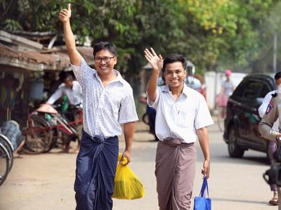 路透社2記者被關500天後獲釋
