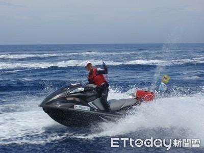 水上摩托車跨國行 花蓮港航向與那國島