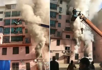 19歲「吊車俠」大火中救出14人