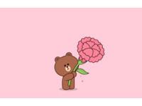 影/快跟媽媽LINE一下!首推「母親節特效」 熊大跳出來送康乃馨