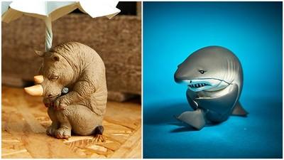 全部一臉雖!「憂鬱系猛獸玩具」鯊魚悲傷縮成球:我快絕種了QQ