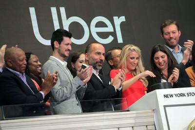 Uber股價再挫10.75% 每股跌至37.10美元