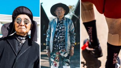 84歲阿公穿孫子衣服秒變雜誌封面!連藥膏都很時尚是怎麼回事啦~