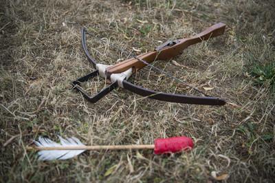 翁在自家庭院被十字弓射穿慘死