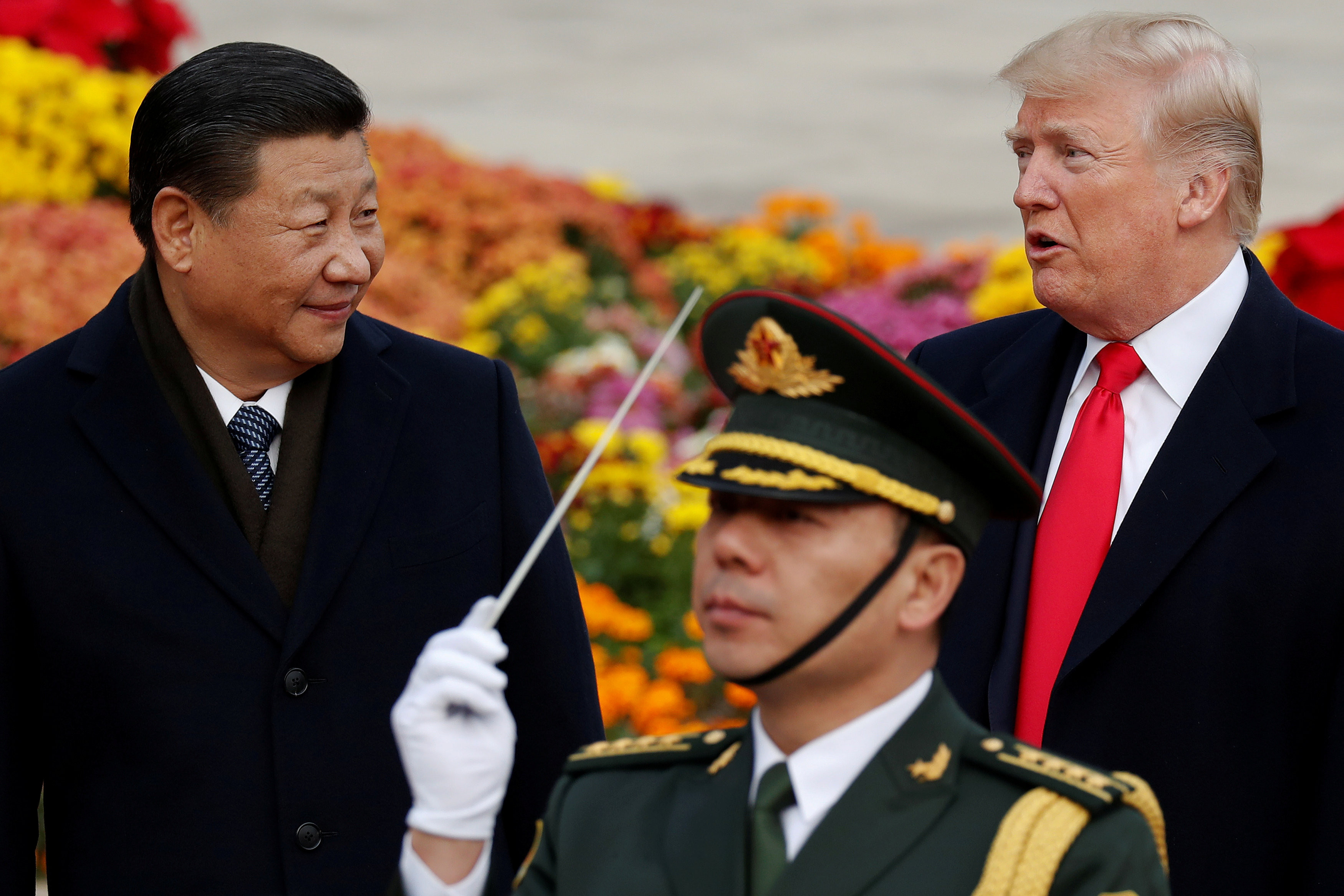 ▲▼ 美國總統川普,中國國家主席習近平,川習,貿易戰。圖為美國總統川普2017年出訪北京。(圖/路透)