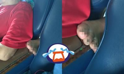 後座大哥「脫赤腳伸椅縫」 她轉頭崩潰
