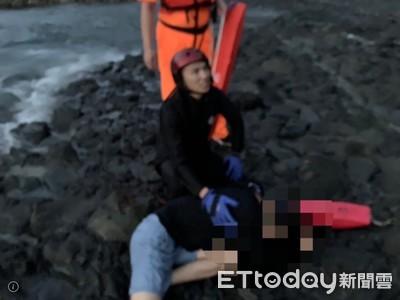 輕生男被截獲仍縱身入海 海巡下海救回