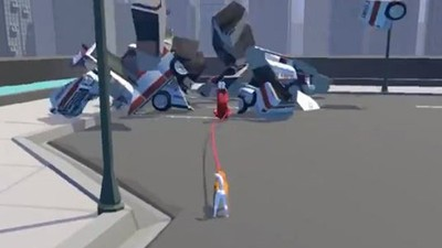 這樣飛太遠!ㄎㄧㄤGame「柴犬散步」 甩牽繩彈出飼主毀滅建物