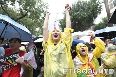 快訊/同婚二讀通過可結婚登記 4萬人歡呼:台灣成為亞洲第一