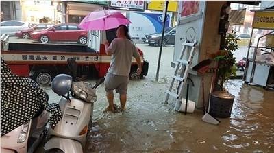 台中北屯區「噁泥水進攻」1樓店面