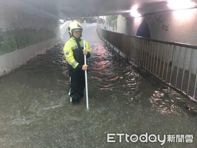 對流雨狂轟新北市 傳134件災情救出12人
