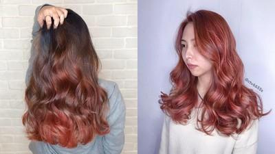 超顯白「番茄橘紅色」暖度破表 染髮自帶甜美蘋果光