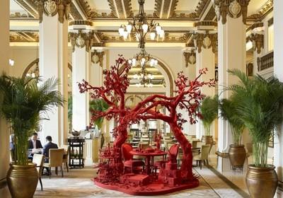 到香港半島酒店打卡當代藝術館藏