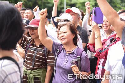 「沒有初選就沒有團結」 賴清德支持者赴黨部抗議