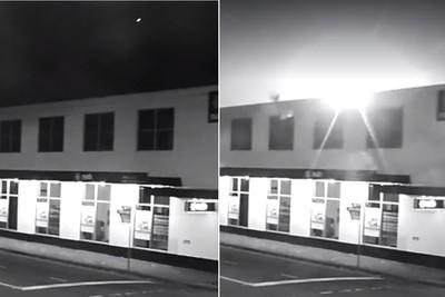 超亮隕石墜落澳洲天空!監視器拍全程