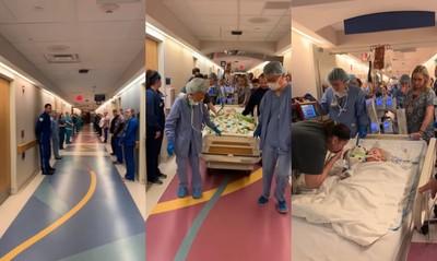 夭折女嬰捐心肝腎 醫護人員列隊送別