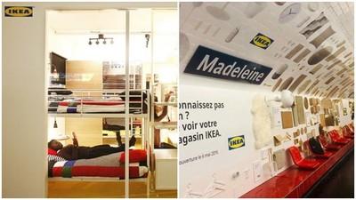 IKEA搬進巴黎地鐵站!冰冷候車位變沙發 坐累了一倒直接躺床