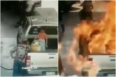 7歲女童身上有靜電…加油突然爆燃