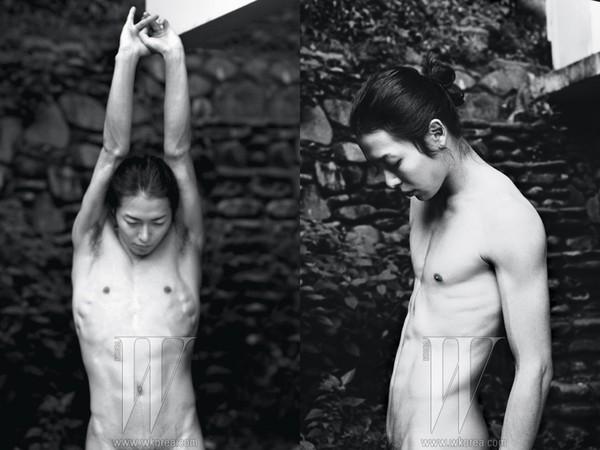 ▲金材昱25歲鮮肉胴體獻雜誌 「正面全裸露毛」寫真超羞。(圖/翻攝自W Korea)
