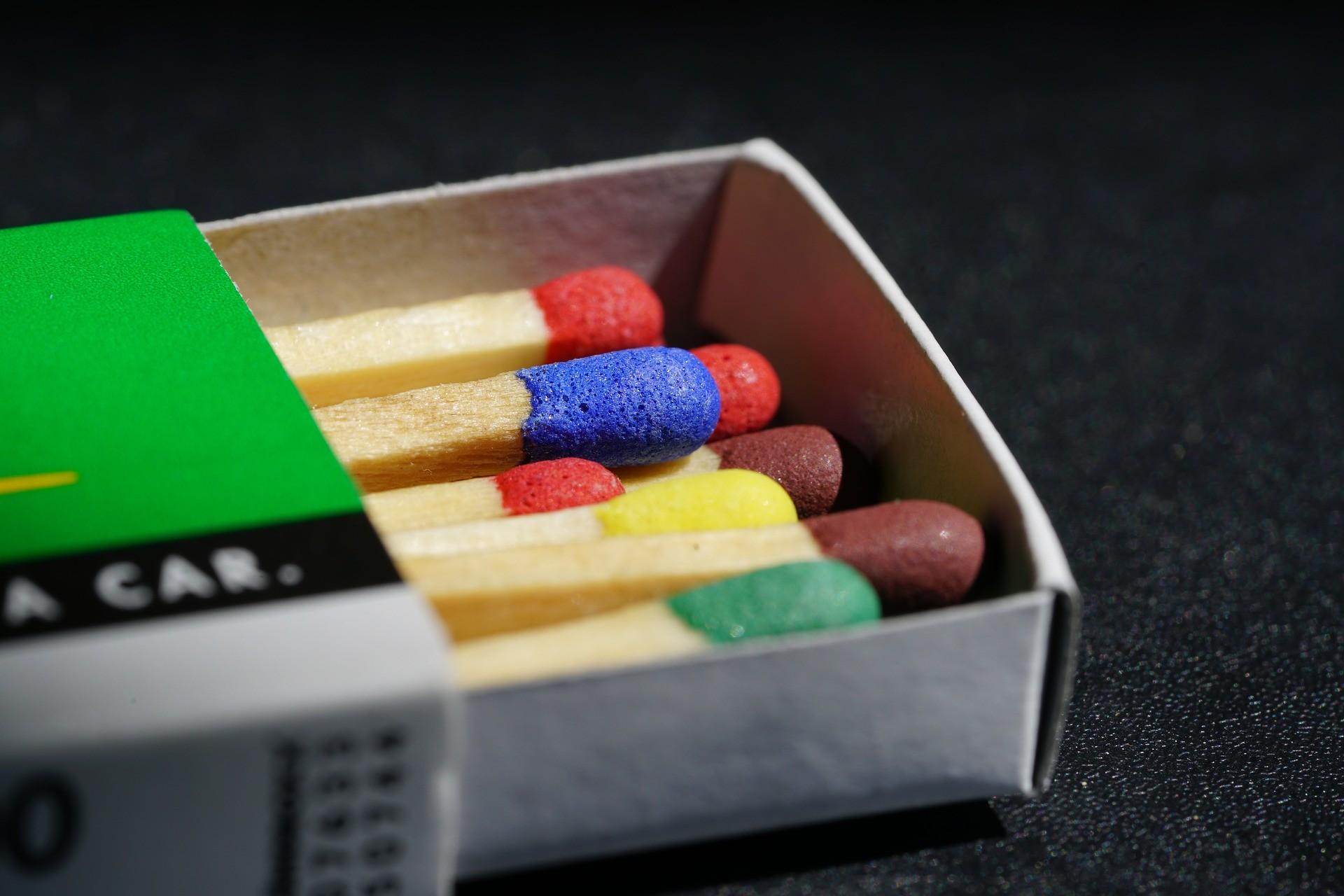 ▲火柴,火柴盒。(圖/取自免費圖庫Pixabay)