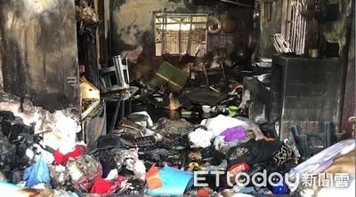 疑神明廳起火 19歲媽「緊抱女嬰」命喪火海