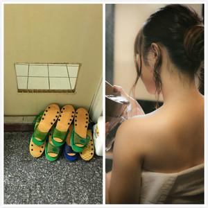 妹子爬浴室門通風口「奶和大腿破皮」 網歪樓