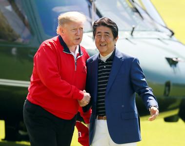 川普會安倍聚焦北韓及伊朗問題