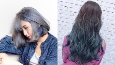 冷色系「莫蘭迪霧藍」髮色