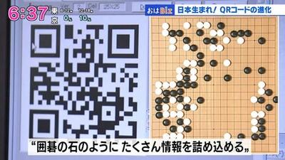 日本發明QR碼是「因為圍棋」!一個條碼內容包20字→7000字