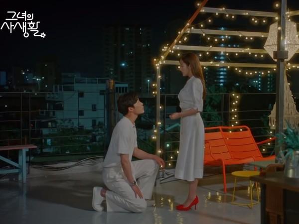 ▲雷/金材昱❤朴敏英原地求婚!浪漫大結局:願意成為我的本命嗎。(圖/翻攝自tvN)