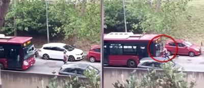 男肉身擋公車! 司機瘋狂加速撞飛他