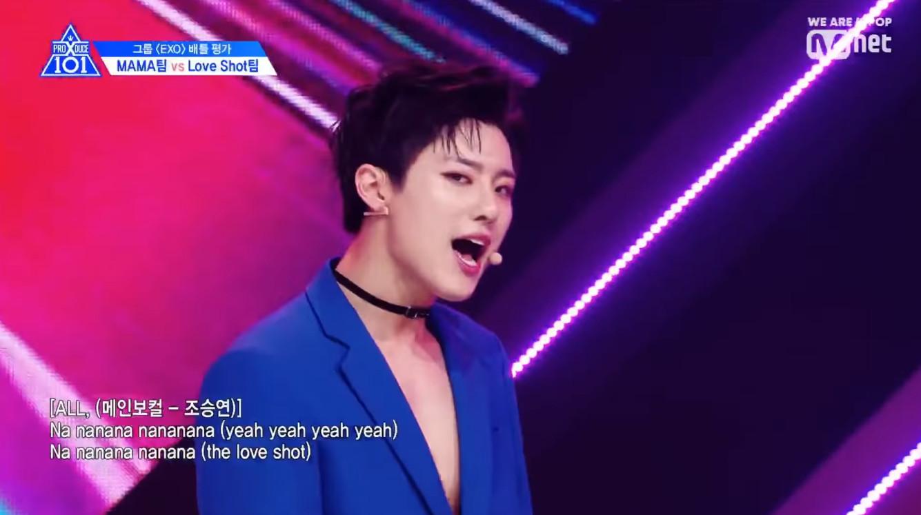 ▲曹承衍在小組評價展現穩定唱功。(圖/翻攝自Mnet K-POP YouTube)