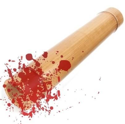 ▲▼竹製按摩棒上發現血跡(示意圖/翻攝自11번가、Pixabay)